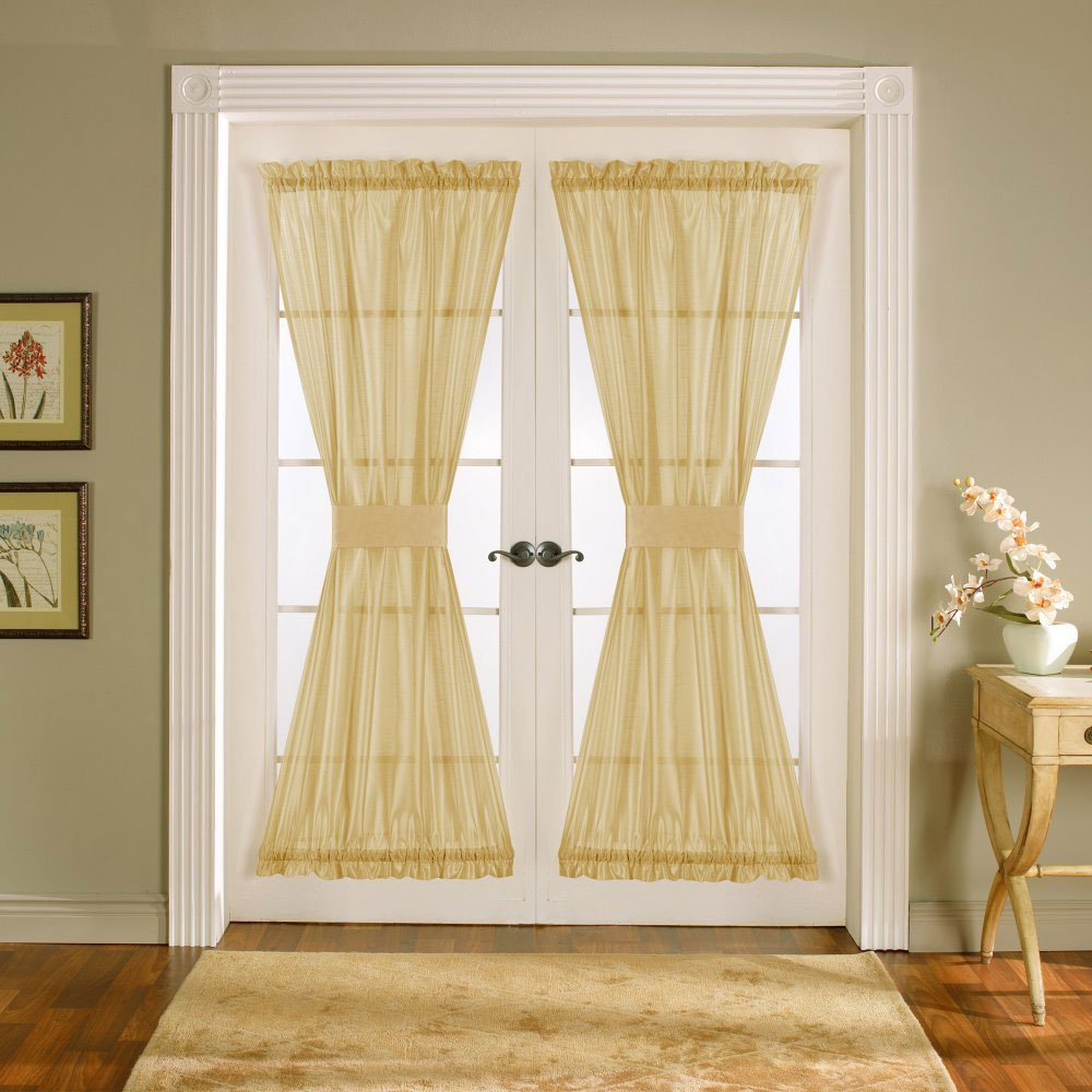 Window treatments for french doors ideas eva furniture - Curtain for kitchen door ...
