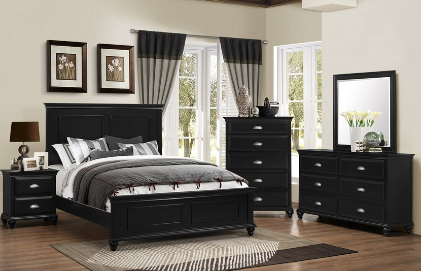 Black Nantucket 6 Pc Queen Size Bedroom Set Ideas