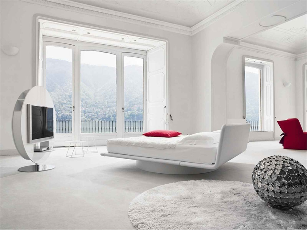Calm White Bedroom Interior Design Ideas