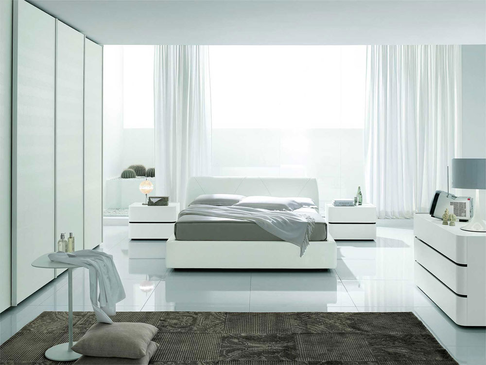 Contemporary White Bedroom Interior Design Ideas
