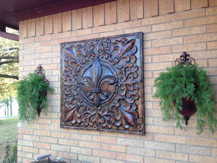 Garden ridge metal wall decor for Outside wall art