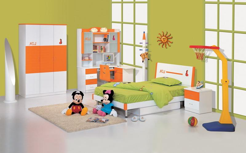 Green and Yellow Bedroom Designs for Kids Bedroom Decoration