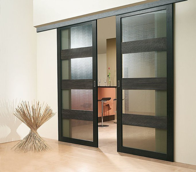 Modern Black Sliding Door Design Ideas