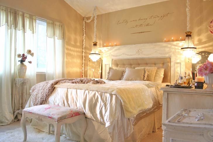 Modern Shabby Chic Bedroom Design Ideas