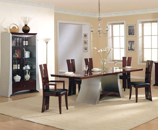 modern dining room sets to give trendy look in modern home eva