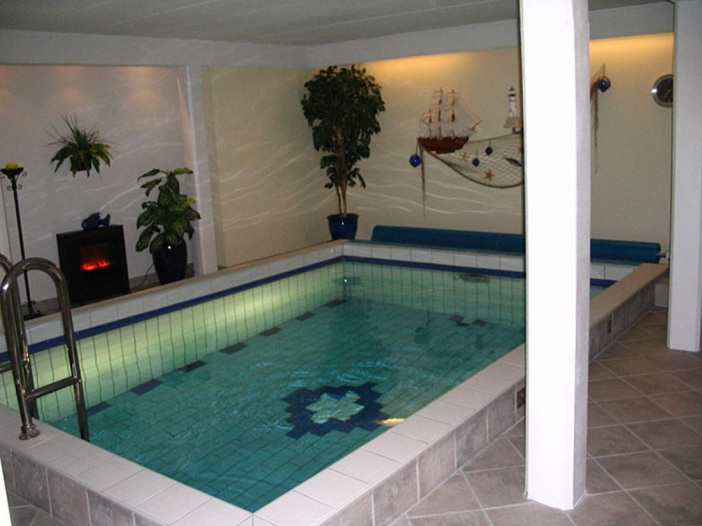 Small Indoor Pool Design With Hammock And Modern