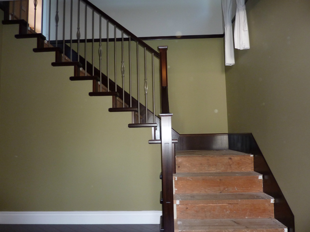 Modern Interior Stair Railings · Awesome Stair Railings Ideas · Wooden Stair  Railing ...