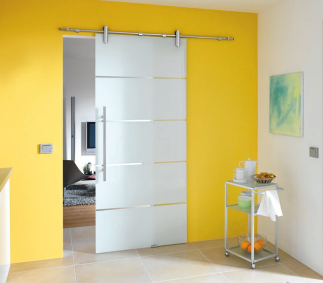 25 Awesome Luxurious House Door Design Ideas To Try: Yellow Sliding Door Design Ideas