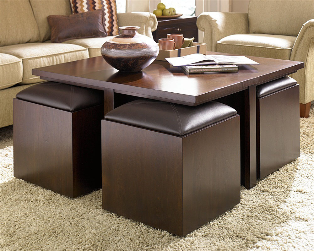Decorating Living Room With Cool Ottoman Coffee Table EVA Furniture