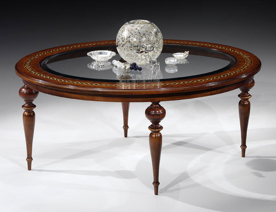 Classic Oval Glass Coffee Table