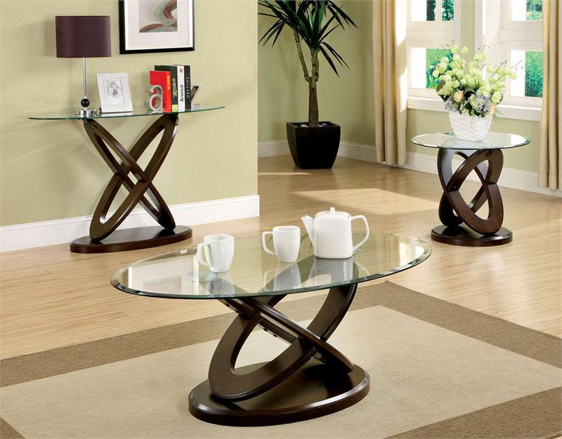 The oval glass coffee table for minimalist home concept Glass modern coffee table sets