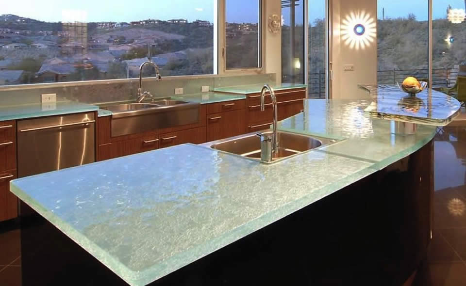 Charming Glass Countertop