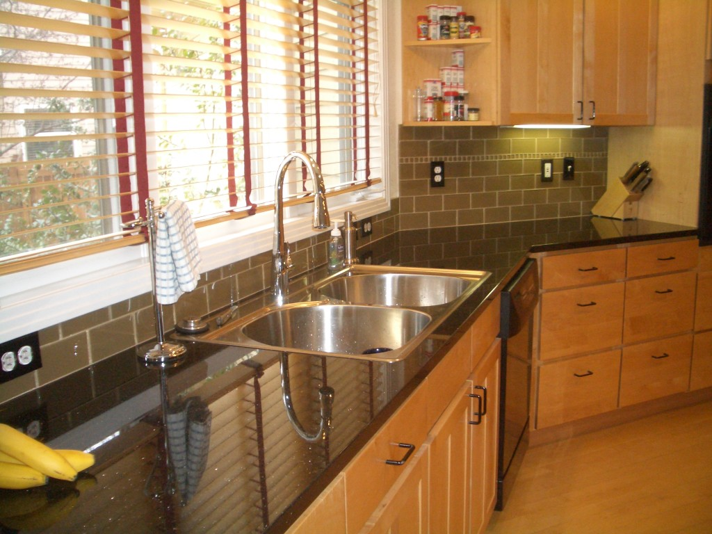 Gray Subway Tile Kitchen