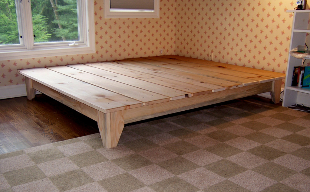 Build twin size platform bed frame woodworking plan quotes - How to build a queen size bed frame with drawers ...