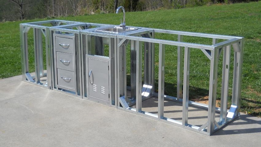 Modular Outdoor Kitchen Frames