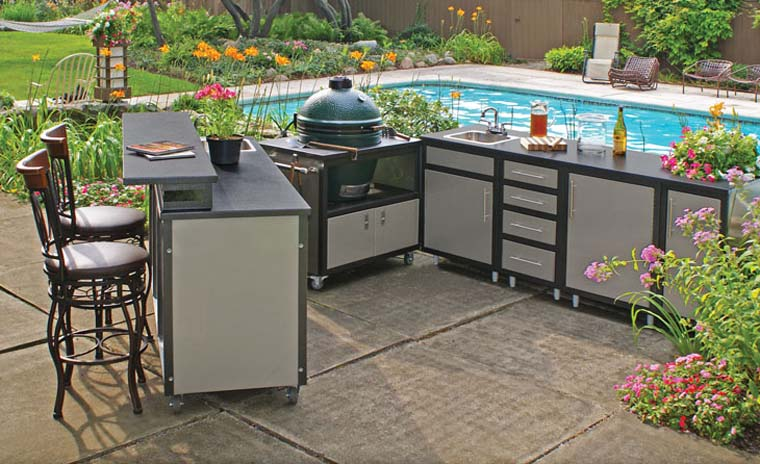 modular outdoor kitchen islands