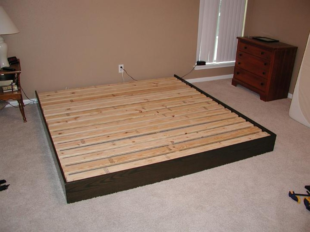 queen size platform bed frame - Wood Platform Bed Frame Queen