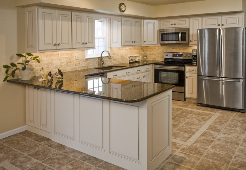 How To Whitewash Oak Kitchen Cabinets EVA Furniture - Whitewash kitchen cabinets