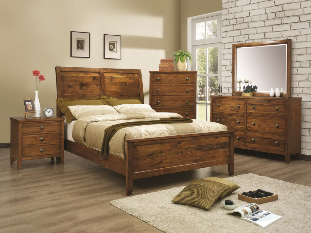 Wood rustic bedroom furniture ideas eva furniture for Hardwood bedroom furniture
