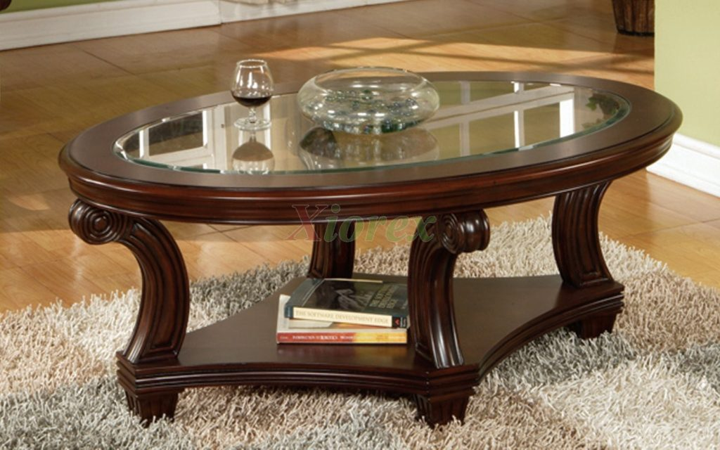 Vintage Oval Glass Coffee Table