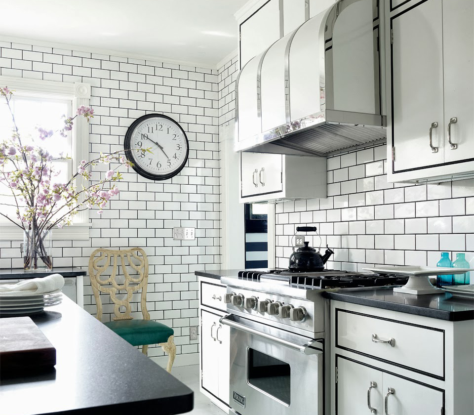White Subway Tile Kitchen Backsplash