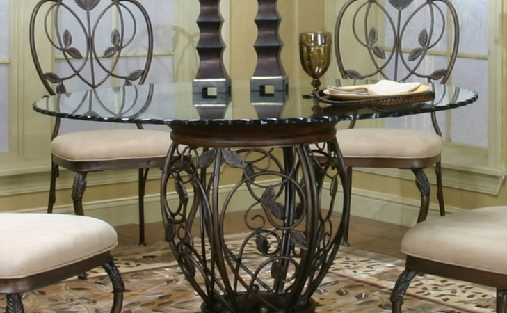 Pedestal Round Glass Dining Table Set Eva Furniture