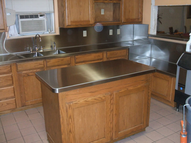 Stainless steel countertops diy for Stainless steel countertops cost per sq ft