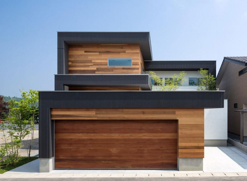 Wood garage doors picture ideas for Architecture contemporaine maison individuelle