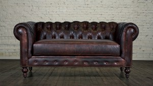 Compact and Stylish Leather Couch and Loveseat