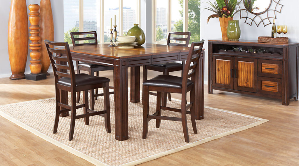 Counter height casual dining room sets for Rooms to go dining sets