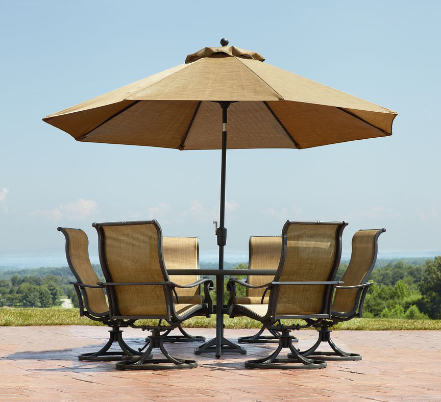 Choosing the best outdoor patio set with umbrella for your for Outdoor patio table set