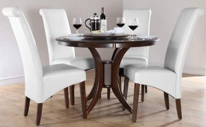 Round Dining Tables for 4 Chairs Set