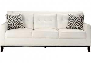Comfort with Black and White Leather Sofa