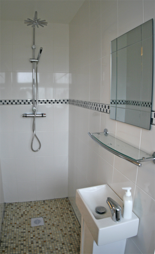 Small shower room ideas for small bathrooms eva furniture for Tiny ensuite designs