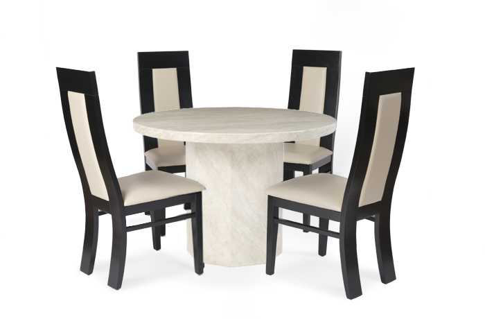 Round Dining Tables for 4 Chairs Set EVA Furniture : Travertine Cream Marble Round Dining Tables for 4 from evafurniture.com size 700 x 460 png 184kB