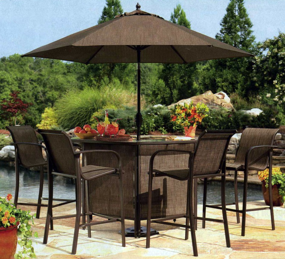 Patio dining sets with umbrella for Outdoor patio dining