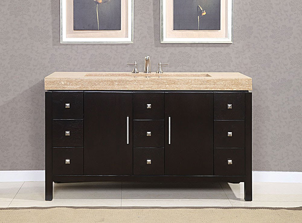 60 inch double bathroom vanity sink for Bathroom vanity sink ideas