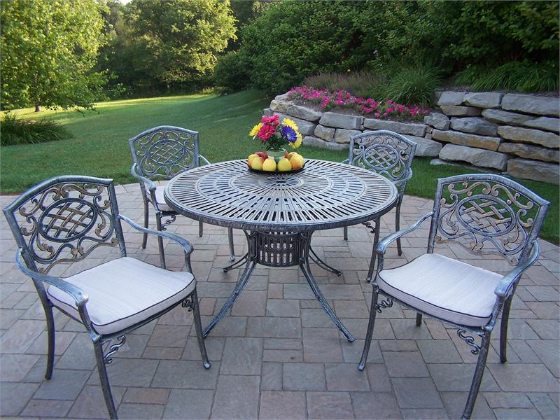 Cast Iron Patio Set Table Chairs Garden Furniture