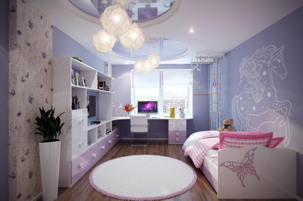 Beautiful Ceiling Lights for Pinky Girls Bedroom