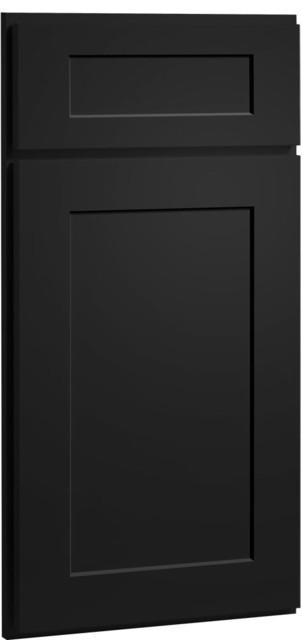 Contemporary Painted Carbon Kitchen Cabinet Door