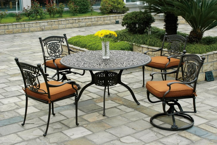 Cast Iron Patio Set Table Chairs Garden Furniture | EVA Furniture
