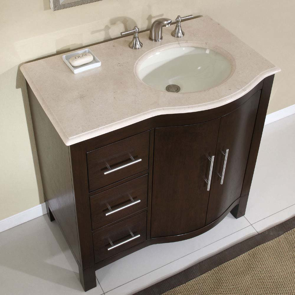 Small bathroom sink picture ideas for Double vanity for small bathroom