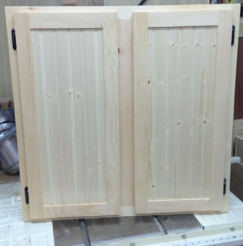 Honey Pine Shaker of Unfinished Kitchen Cabinet Doors | EVA Furniture