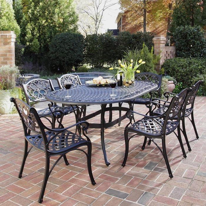 Wrought Iron Patio Furniture Iron Patio Table. Stunning Black Metal Patio Furniture with Chiars   EVA Furniture