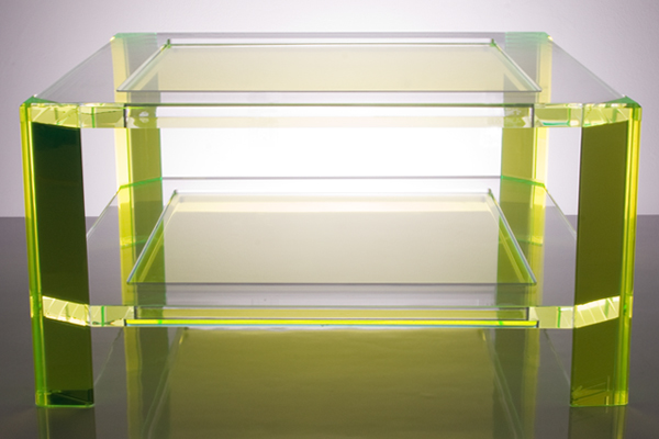 Acrylic Coffee Table Green