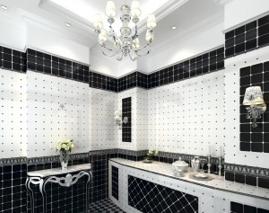 Black and White Tile Bathroom Design Ideas