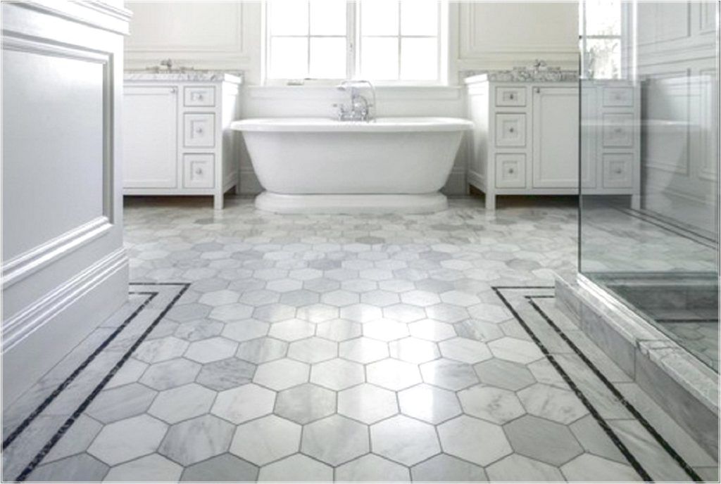 Awesome Heksagon Bathroom Floor Tile Ideas