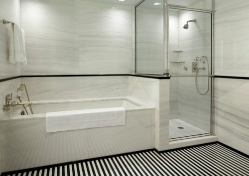 Black And White Subway Tile Bathroom For Modern Bathroom Designs