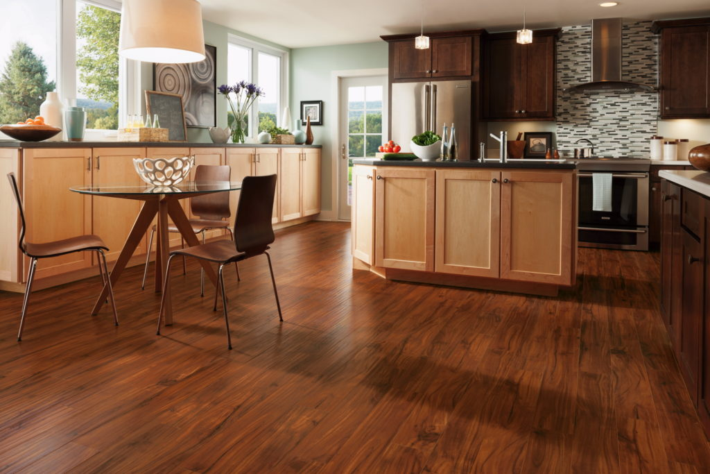 how to install laminate flooring square