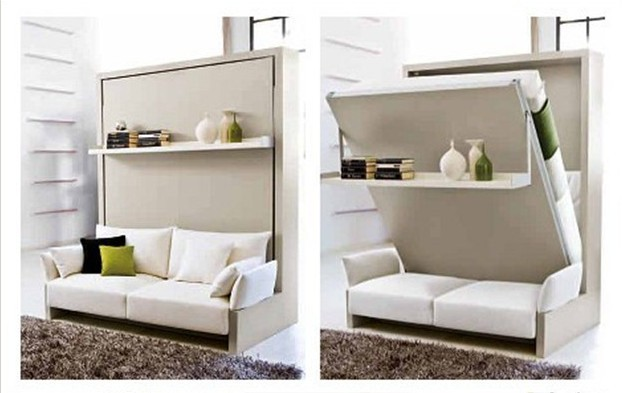 Smart furniture with sofa beds for small apartement Schrankbett mit sofa